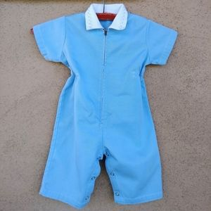 1960s Baby Playsuit Coveralls Boy Girl 12 Months